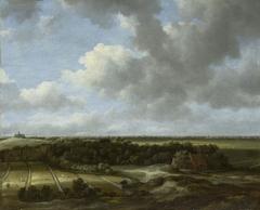 View of Bleaching Fields of Family De Mol in Bloemendaal