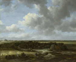 View of Bleaching Fields of Family De Mol in Bloemendaal