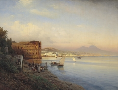 View of the Gulf of Naples with the Palace of Queen Joanna