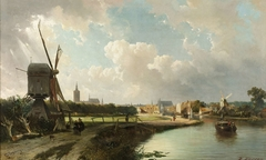 View of The Hague from the Canal called the Delftsche Vaart in the 17th Century