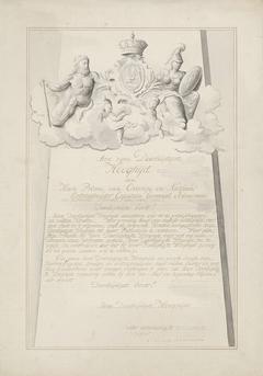 Wapen van Willem V, prins van Oranje-Nassau