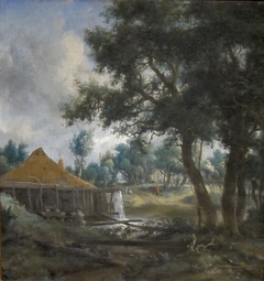 Water Mill with Smoking Chimney