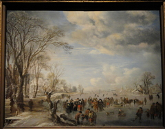Winter in Holland: Skating Scene