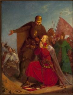 Władysław Jagiełło and Vytautas praying before the battle of Grunwald