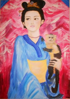woman & monkey