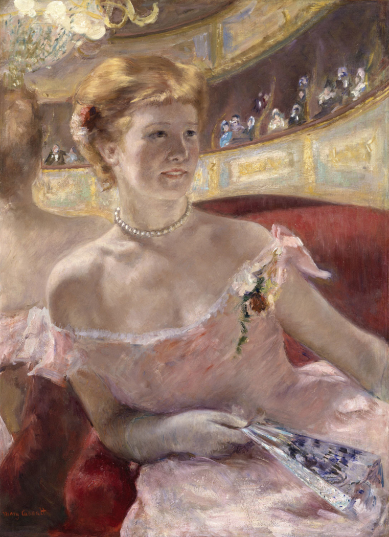 Woman with a Pearl Necklace in a Loge (Dans la Loge)