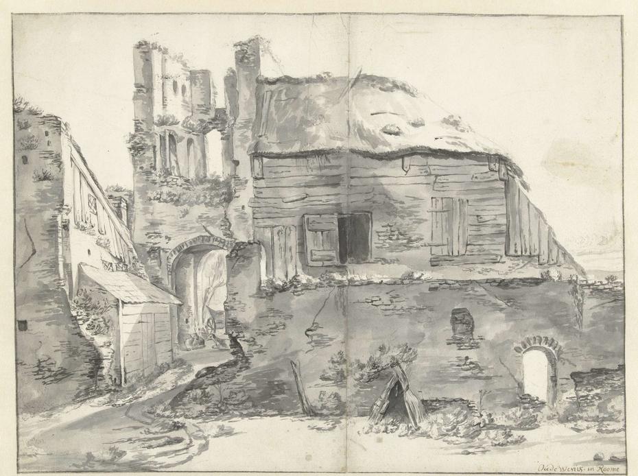 Woning bij een ruïne