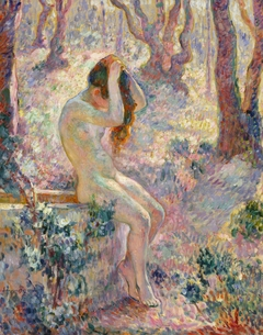 Young Nude Seated on the Edge of a Well