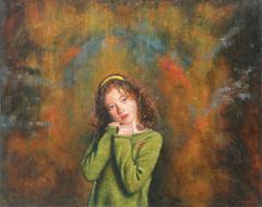« Κίτρινη κορδέλα», 80 x 100 cm, oil on canvas.