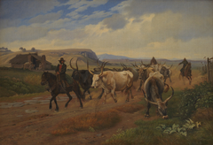 A Drove of Oxen in the Roman Campagna