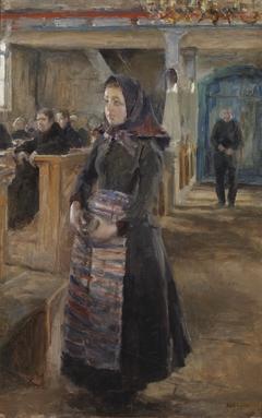 A Girl in the Old Church of Keuruu