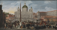 A Papal Procession in Piazza San Pietro in Rome