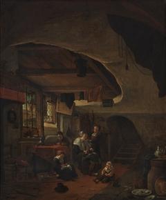 A rustic interior