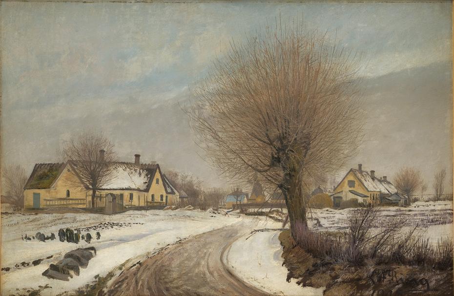 A Sealand Village. Winter