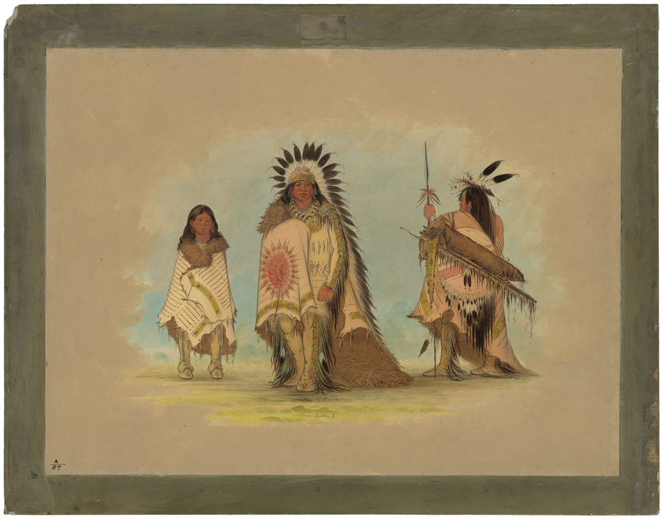 A Sioux Chief, His Daughter, and a Warrior
