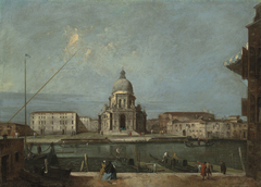 A view of the Grand Canal, Venice, with the church of Santa Maria della Salute