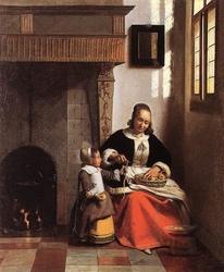A Woman Peeling Apples