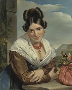 A young Girl Reposing