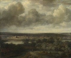An Extensive Landscape with a Town