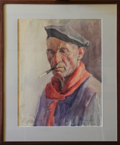 An old man with cigarette