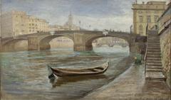 An Overcast Day in Florence near Ponte Santa Trinità