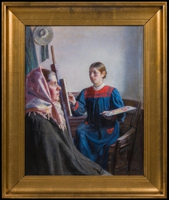 Anna Ancher Painting a Model