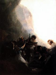 Bandits shooting their prisoners