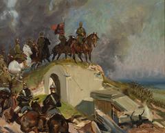 Battle Scene from the First World War