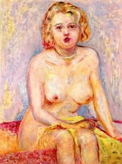 Blond Nude Seated