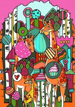 blushing Tinga-giraffe
