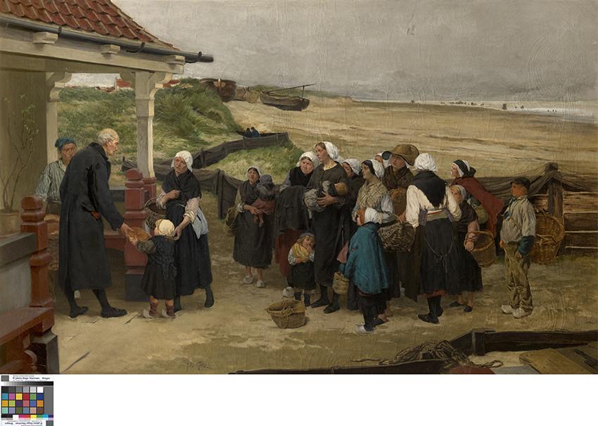Brooduitdeling aan de weduwen en wezen te Katwijk