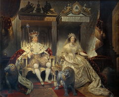 Christian VIII (1786-1848) and Queen Caroline Amalie (1796-1881) in Coronation Robes