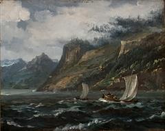 Coastal Landscape with Fishing Boats