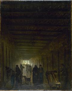 Corridor de la prison Saint-Lazare vers 1794