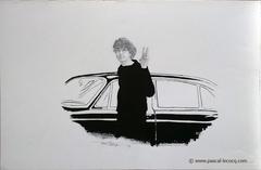 CURIEUSE RENCONTRE PORTRAIT DE JEAN MICHEL FOLON - Unespected meeting, portrait of J-M.Folon - by Pascal