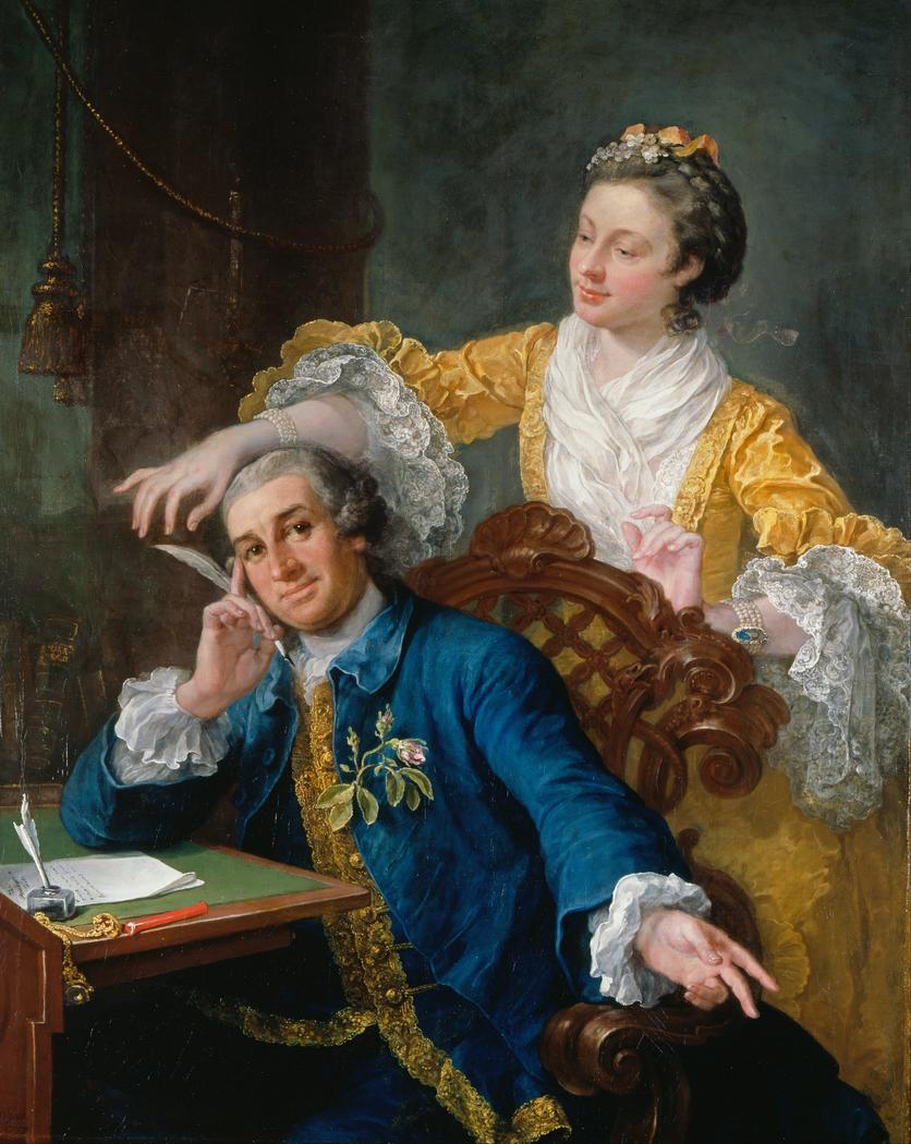 David Garrick with his Wife Eva-Maria Veigel