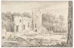 De ruïne van het slot te Egmond aan den Hoef