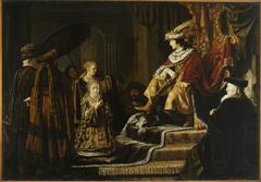 Esther before Ahasuerus (Esther 2:16)