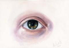 Eye, watercolours