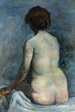 Female nude from the back.