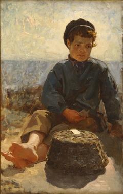 Fisher Boy Sitting, St Malo