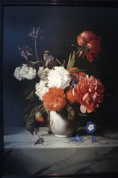 Flowers in a White Stone Vase