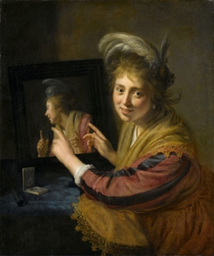 Girl at the mirror