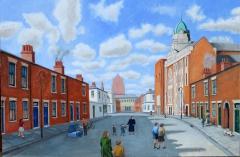 Going to Sunday School circa 1947 (2014) oil on linen, 98 x 107 cm