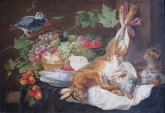 Hare, Fruit and Parrot