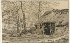 Herdershut in een bos