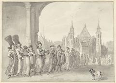 Het gezantschap van de Tsaar van Moskovië op weg naar de Statenvergadering in Den Haag, 4 november 1631