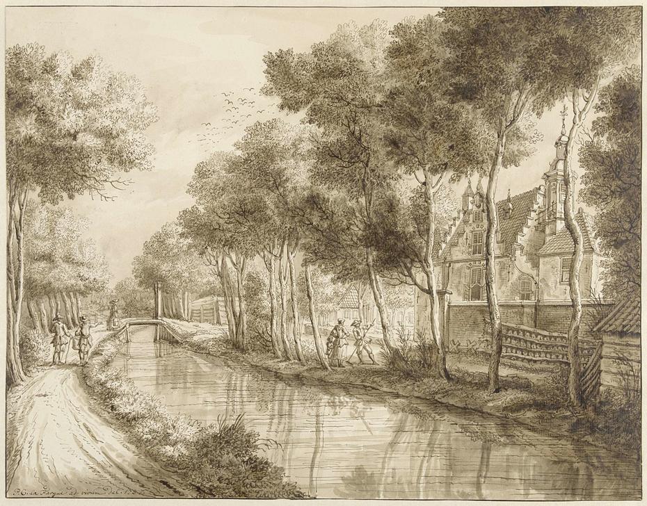Het huis van Jhr. Quarles bij Voorburg