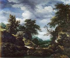 Hilly Wooded Landscape with Castle