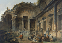 Interior of the Temple of Diana at Nîmes
